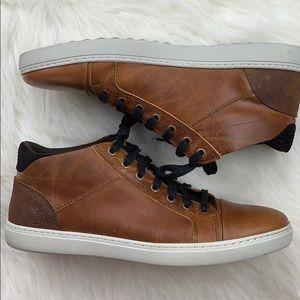 BULLBOXER Cognac Marcone Leather Mid-Top Sneaker